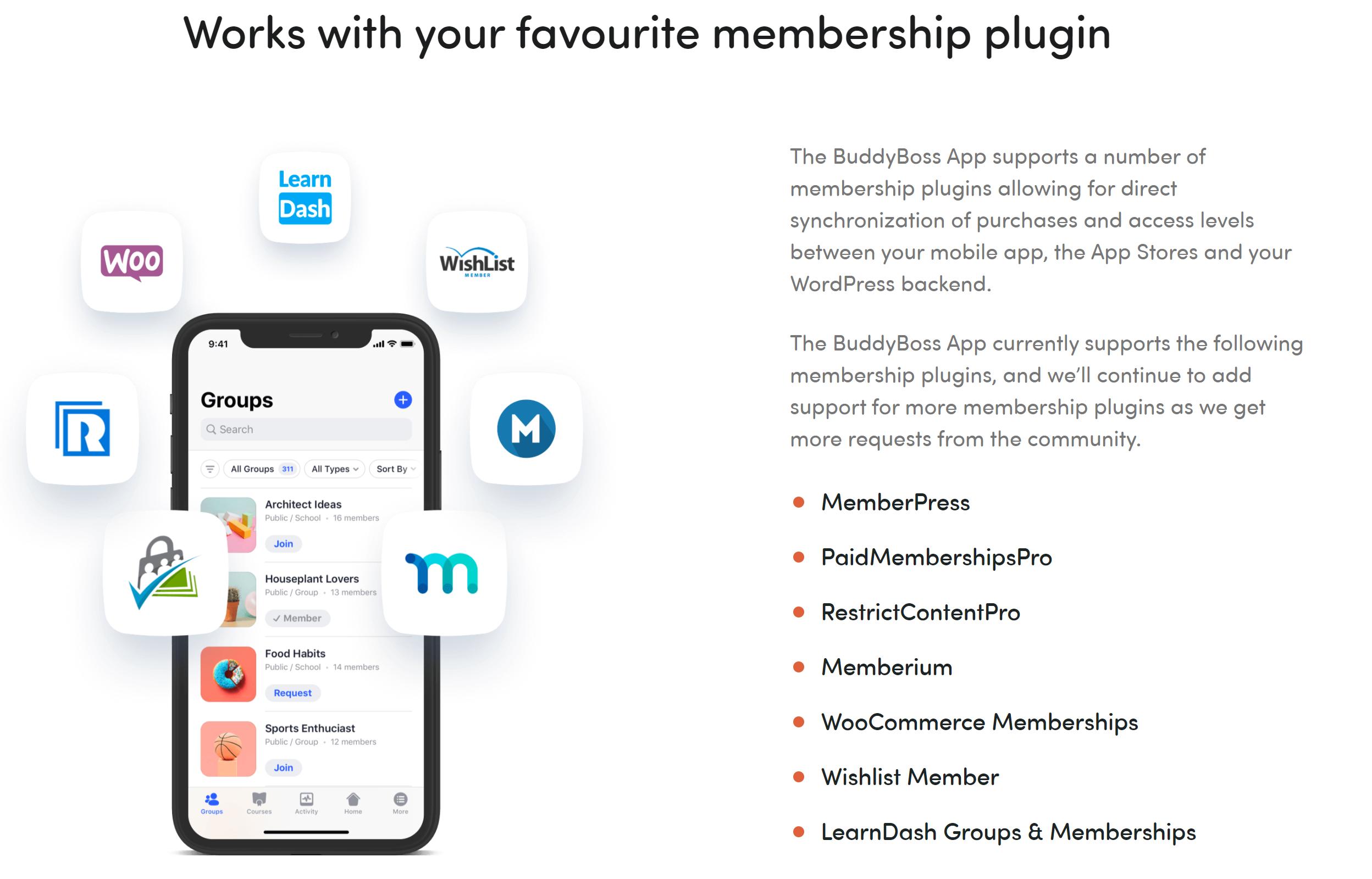 Buddyboss mobile apps