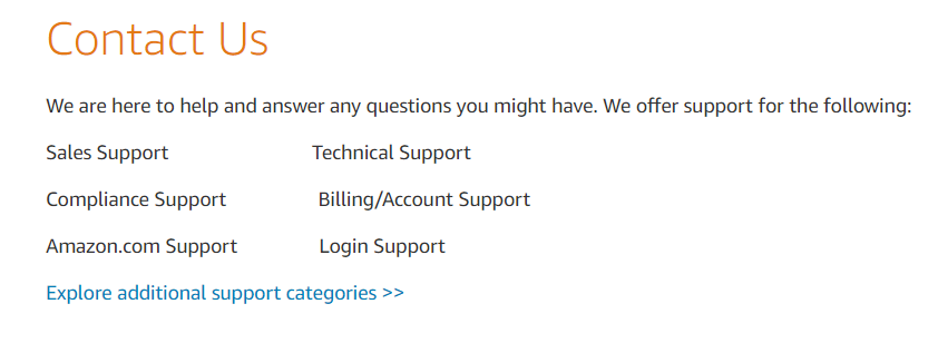 Lightsail-Customer Support