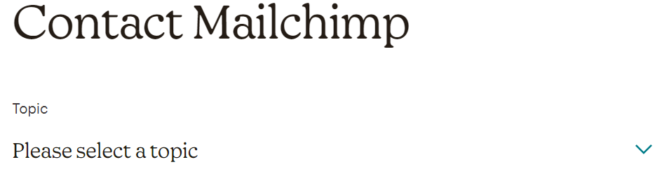 Mailchimp-Guidence Level