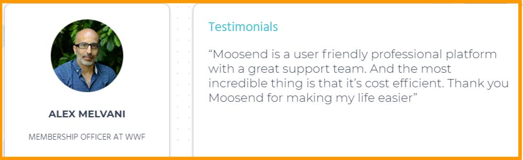 Moosend - Testimonials