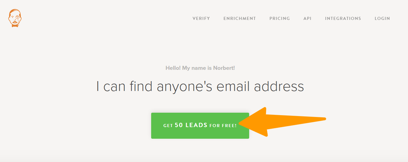 Norbert - Email Finder Tool