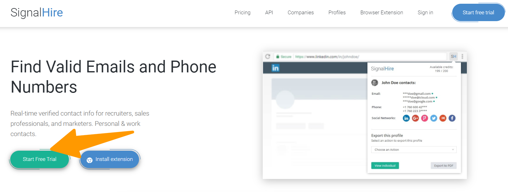 SignalHire - Find Email Tool
