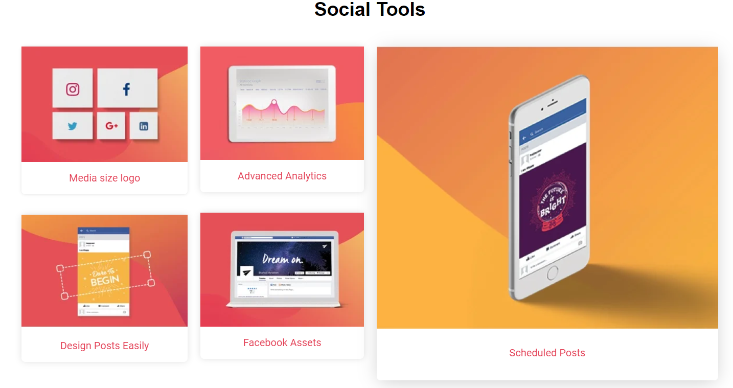 Tailor-Brands - Social Tools