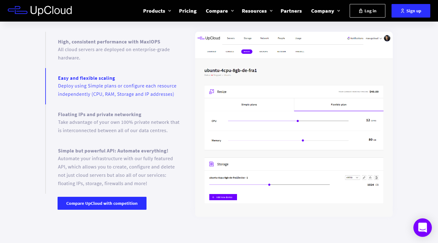 UpCloud Review - Ease Scaling