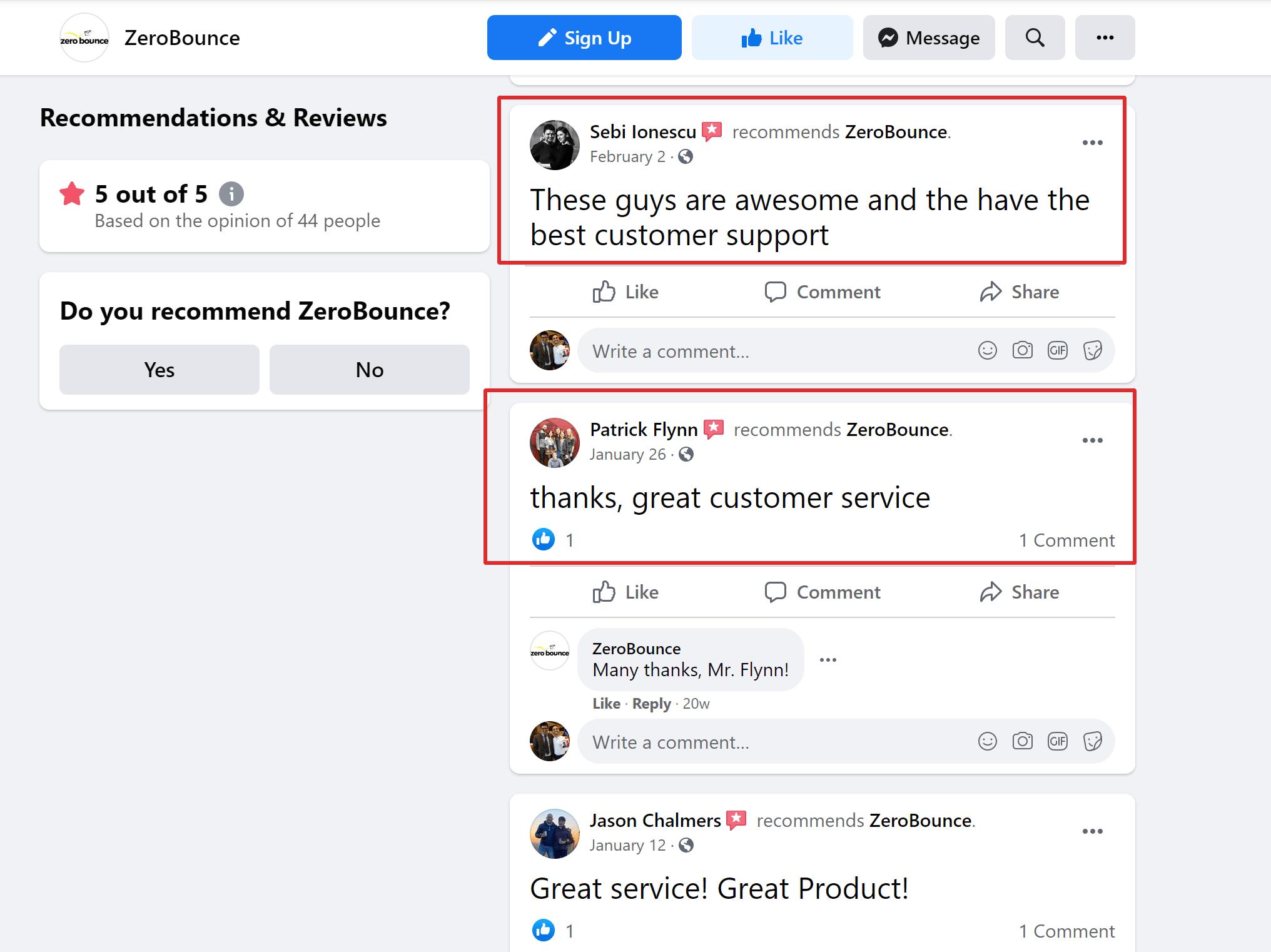ZeroBounce Customer Reviews & Testimonials