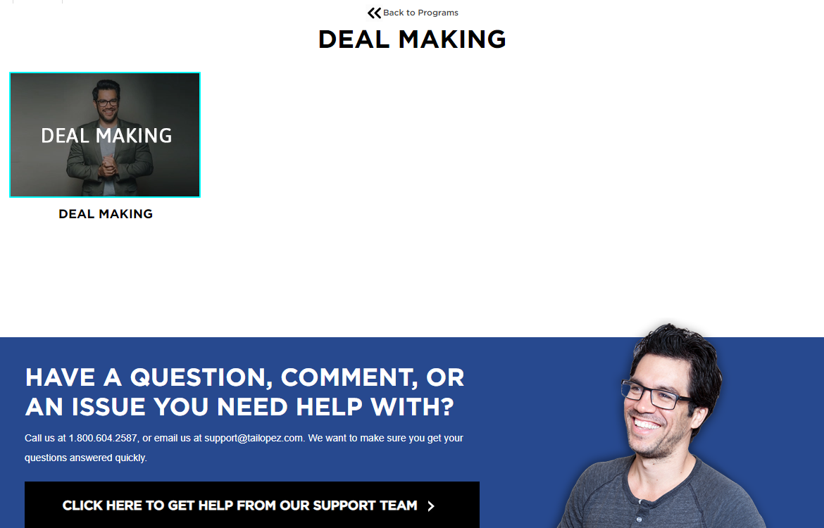 Deal making Tai lopez