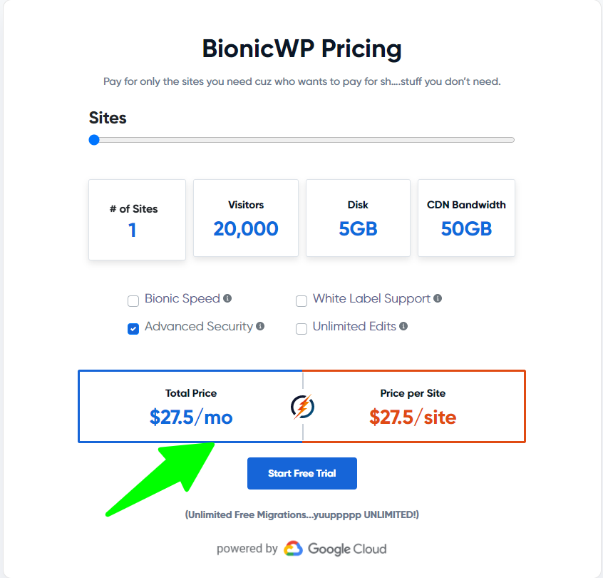 BIONICWP - Pricing