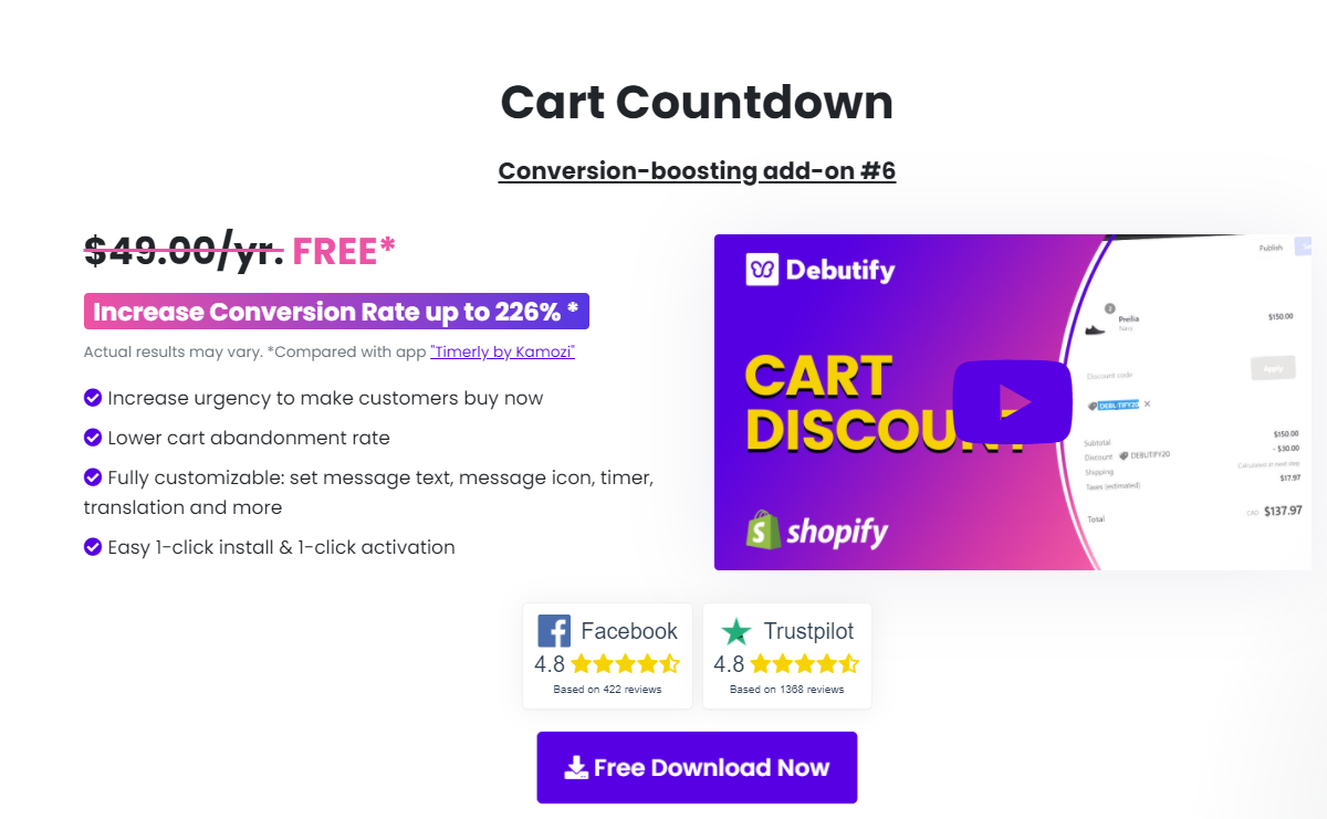 Debutify-Cart Countdown