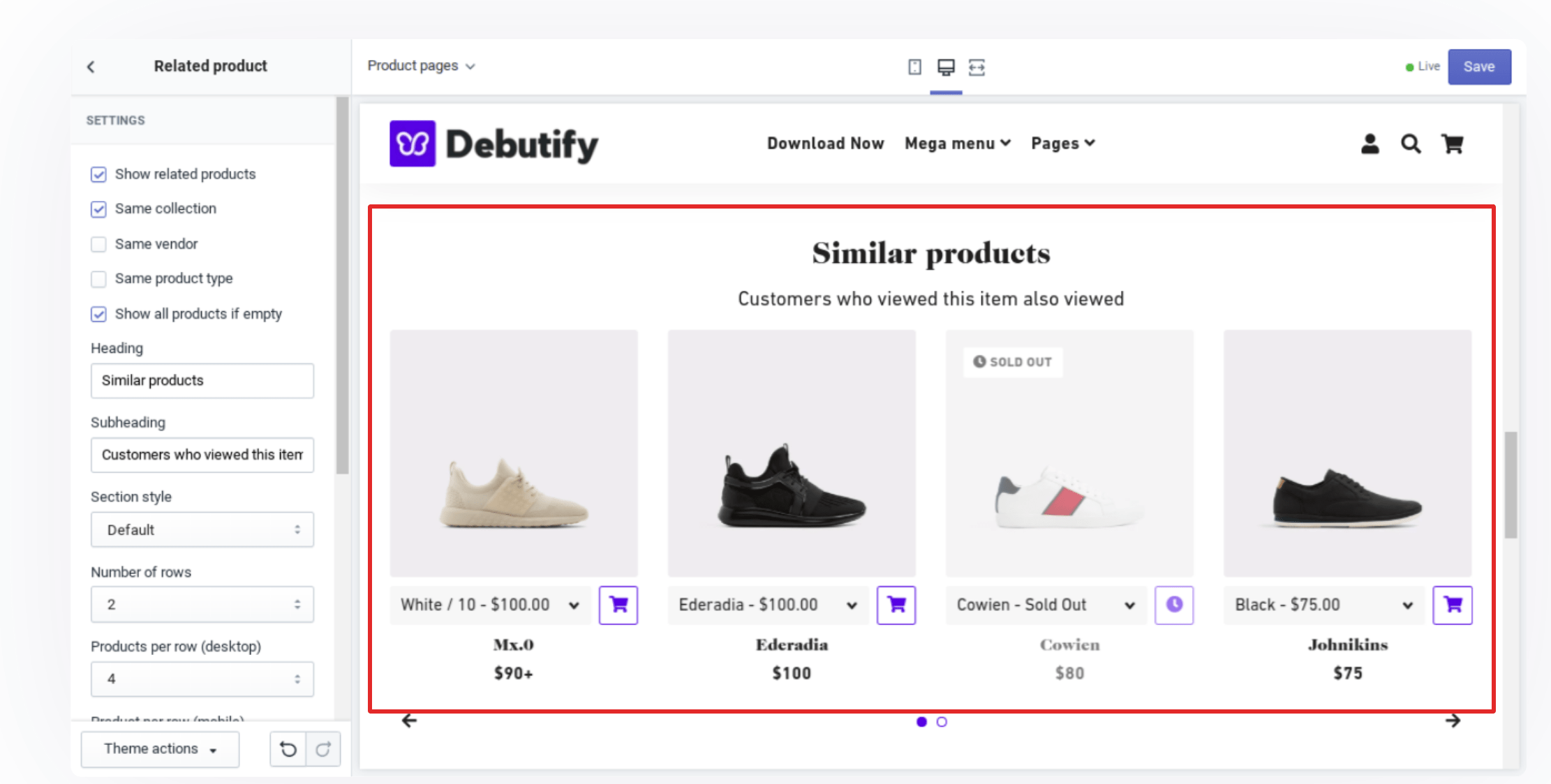 Debutify features and pricing