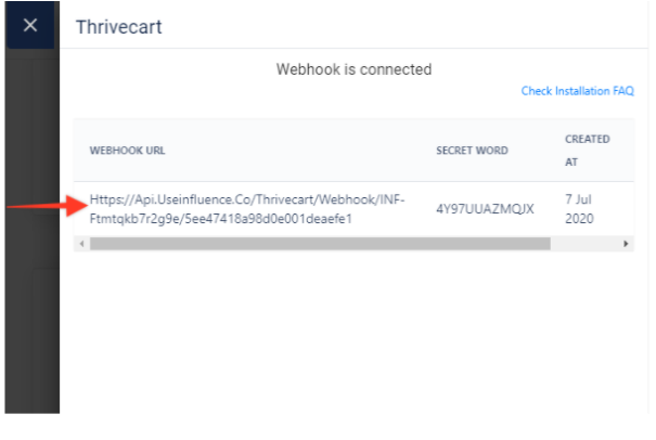 How-Can-You-Integrate-Everything-with-ThriveCart- Webhook Is Connected