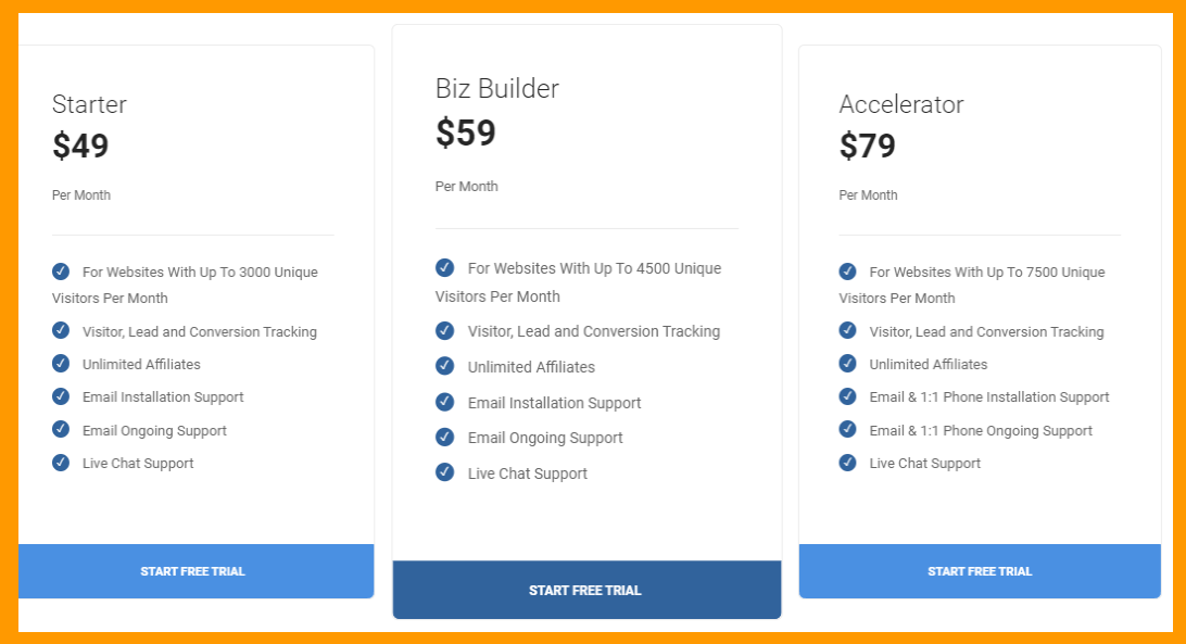 LeadDyno-Easy-Affiliate-Tracking- Pricing Plan