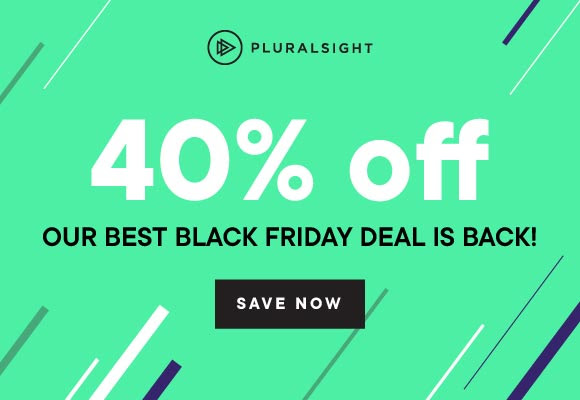 Pluralsight Black FridayCyber Monday Deals