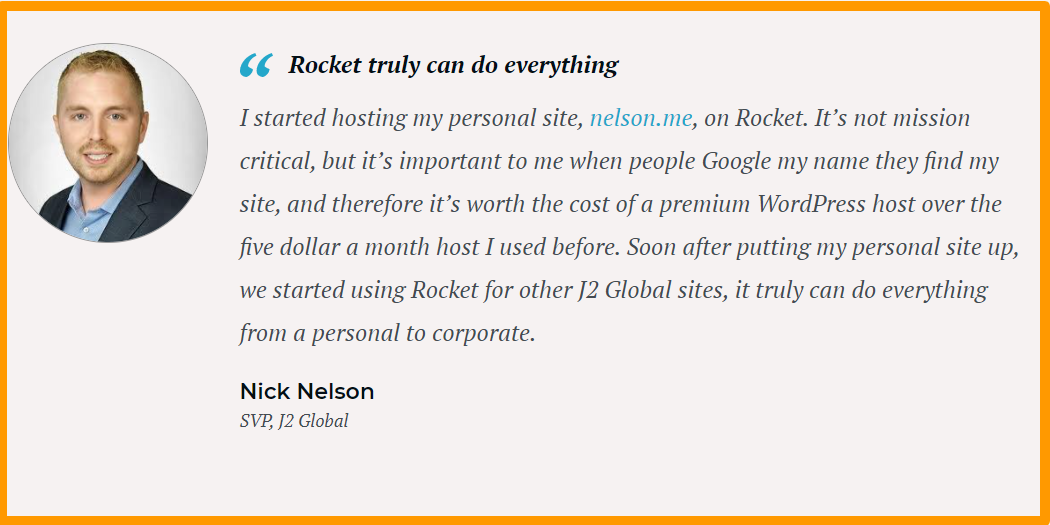 Rocket-net - WordPress Hosting Testimonials