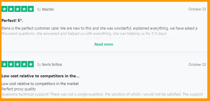 SOAX - Mobile-Proxies Testimonials