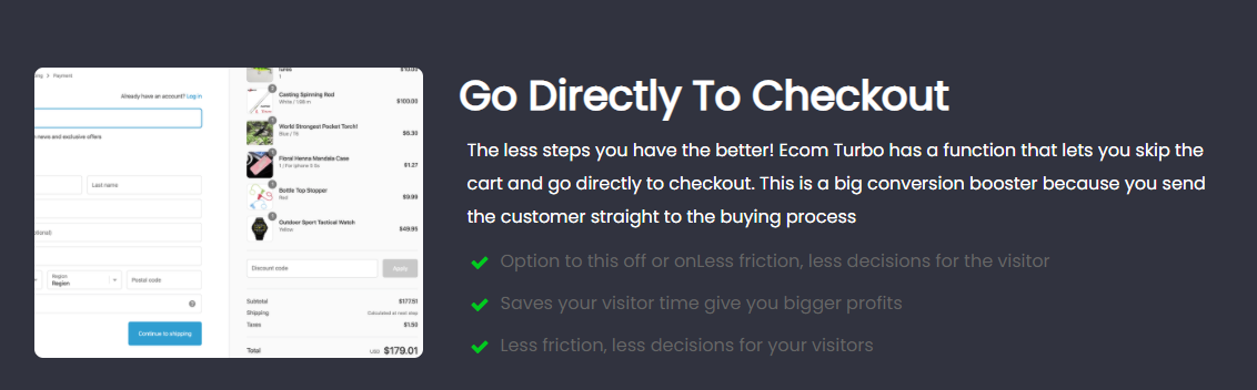 Turbo-Checkout