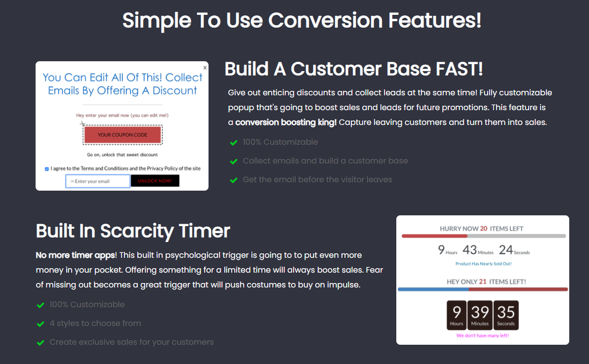 Turbo-Conversion Features