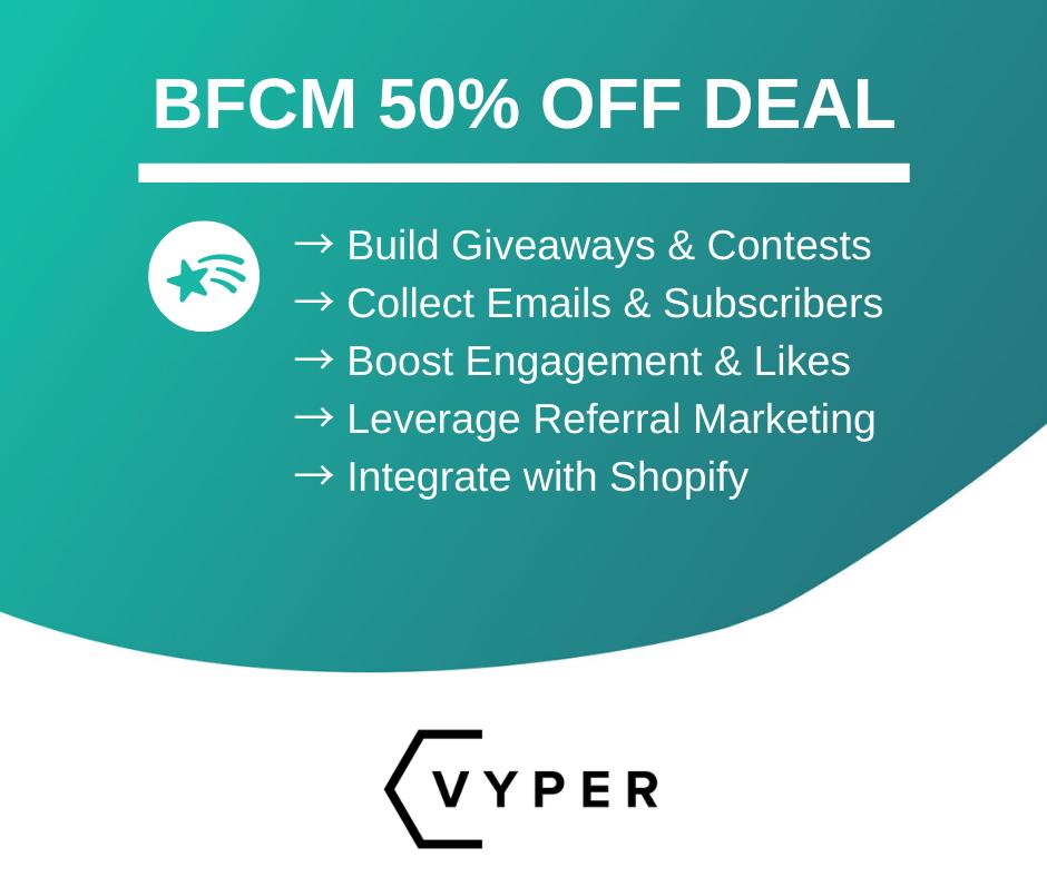 Vyper Viral Giveaway Software Black Friday Deals