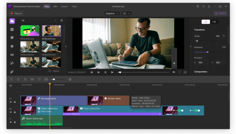 Wondershare DemoCreator-–-Screen-Recording Video Editing