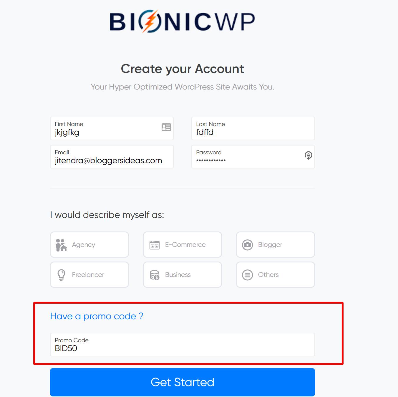 BionicWP hosting discount