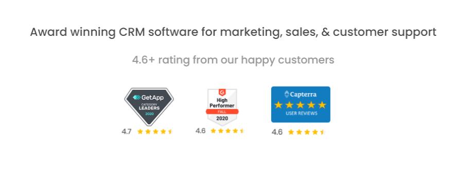 CRM-Software-EngageBay - Customer Rating