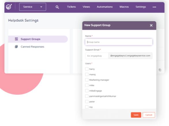 CRM-Software-EngageBay -HelpDesk Setting