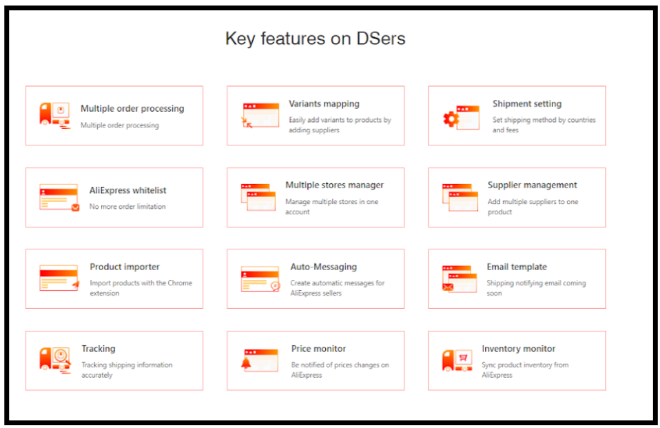 Dsers- Key Features
