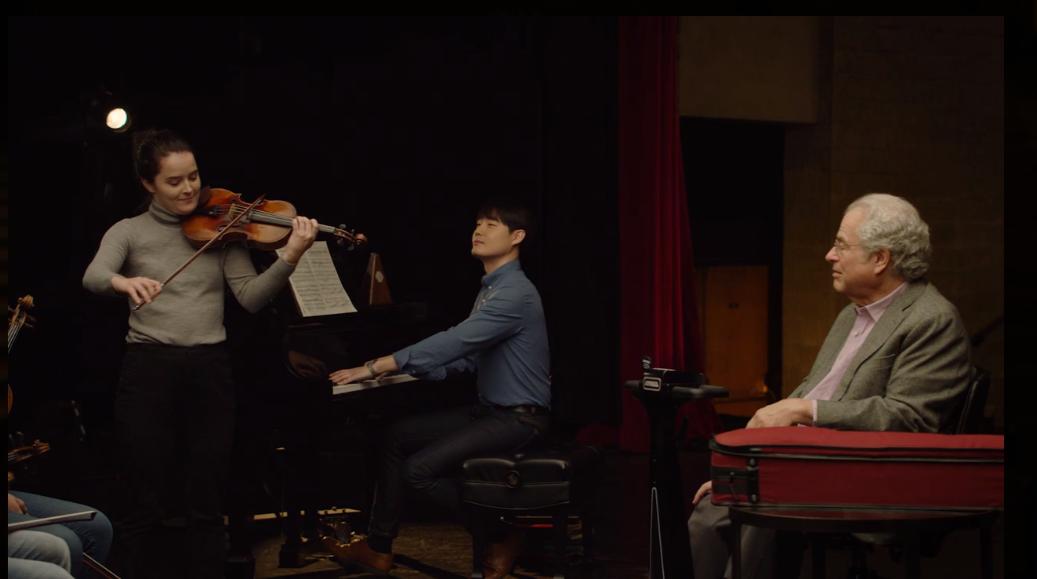 Itzhak-Perlman-Teaches-Violin-MasterClass - Student