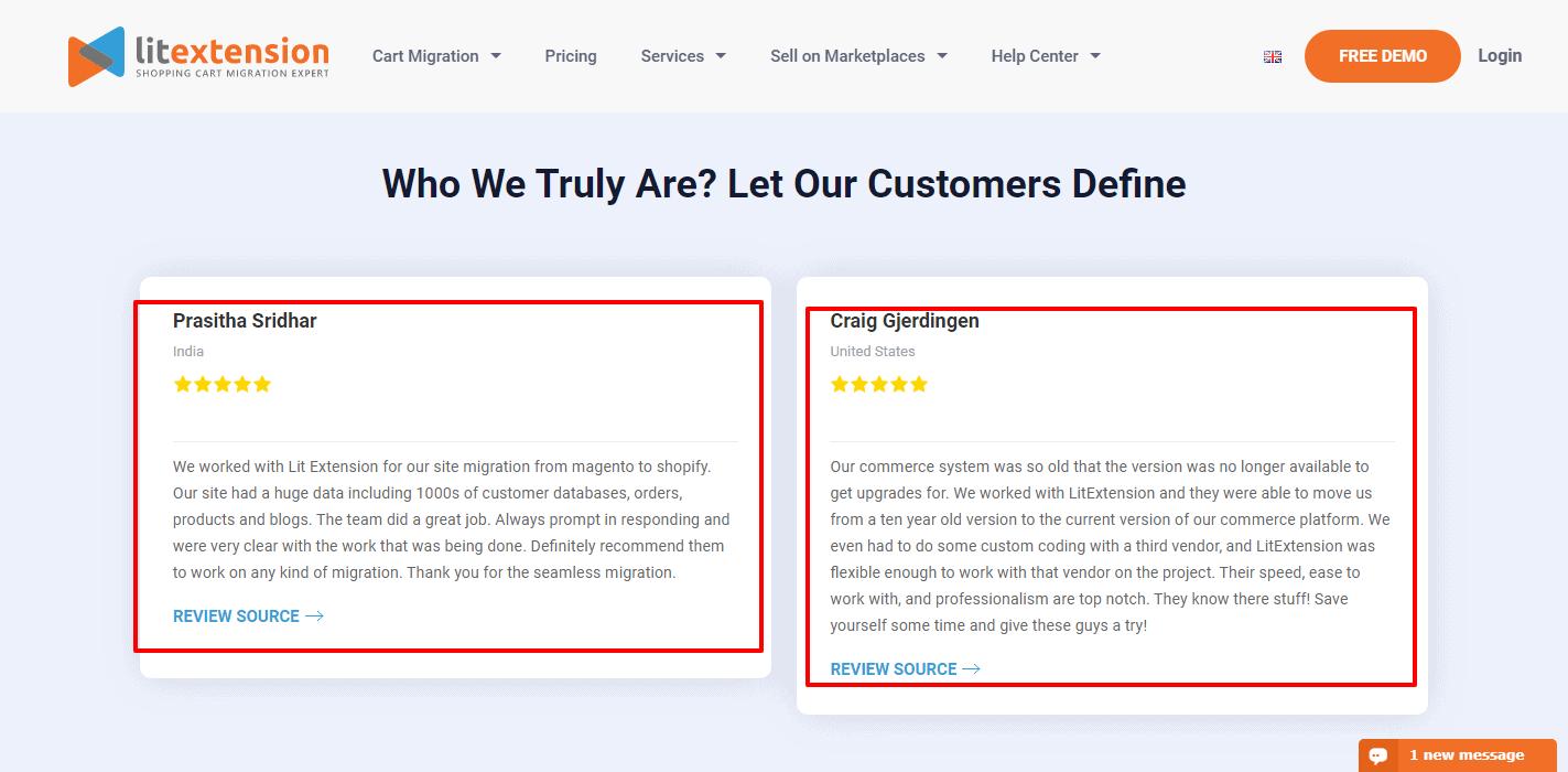 -LitExtension customer reviews