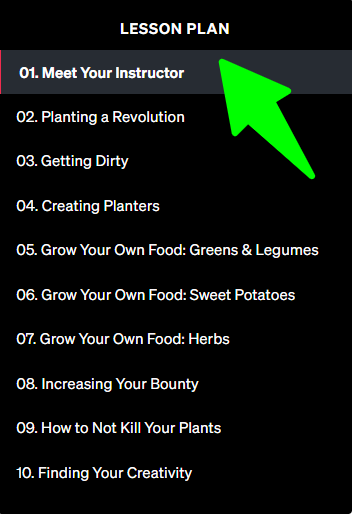 MasterClass-Ron-Finley-Teaches-Gardening - Lesson Plan