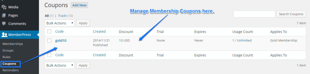 MemberPress Coupons