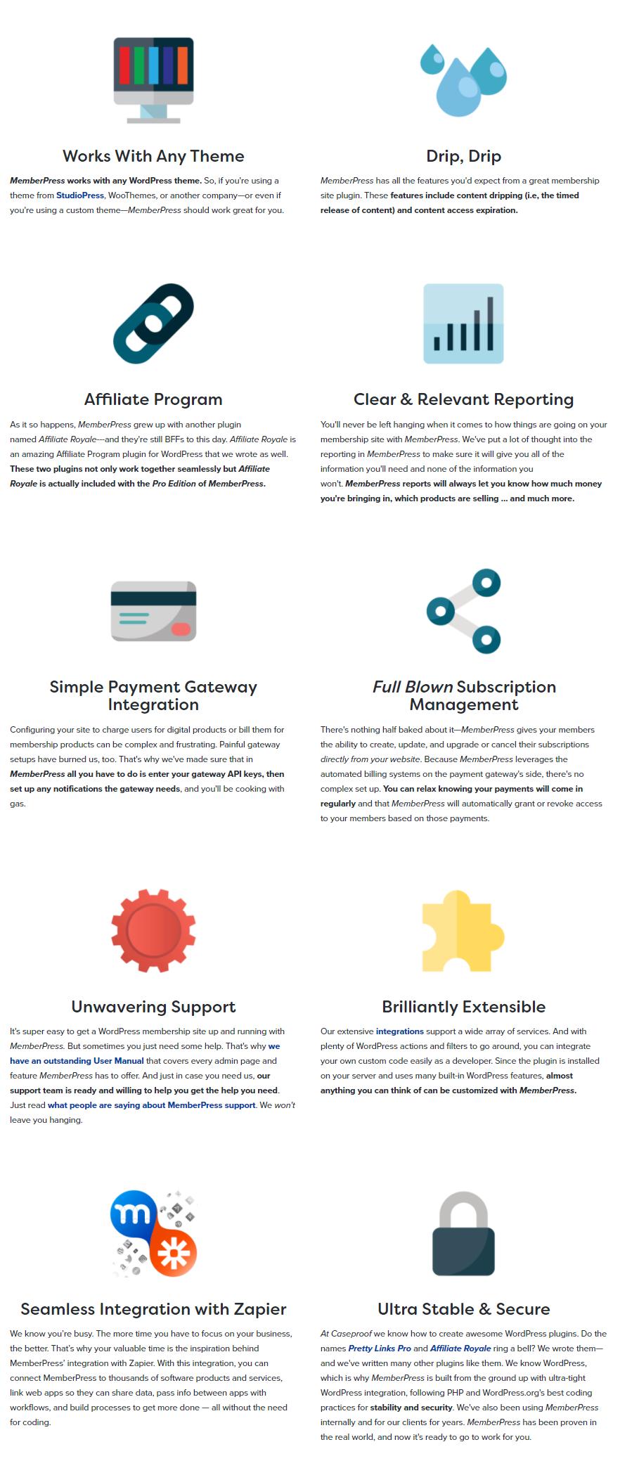 -MemberPress- Features Benefits
