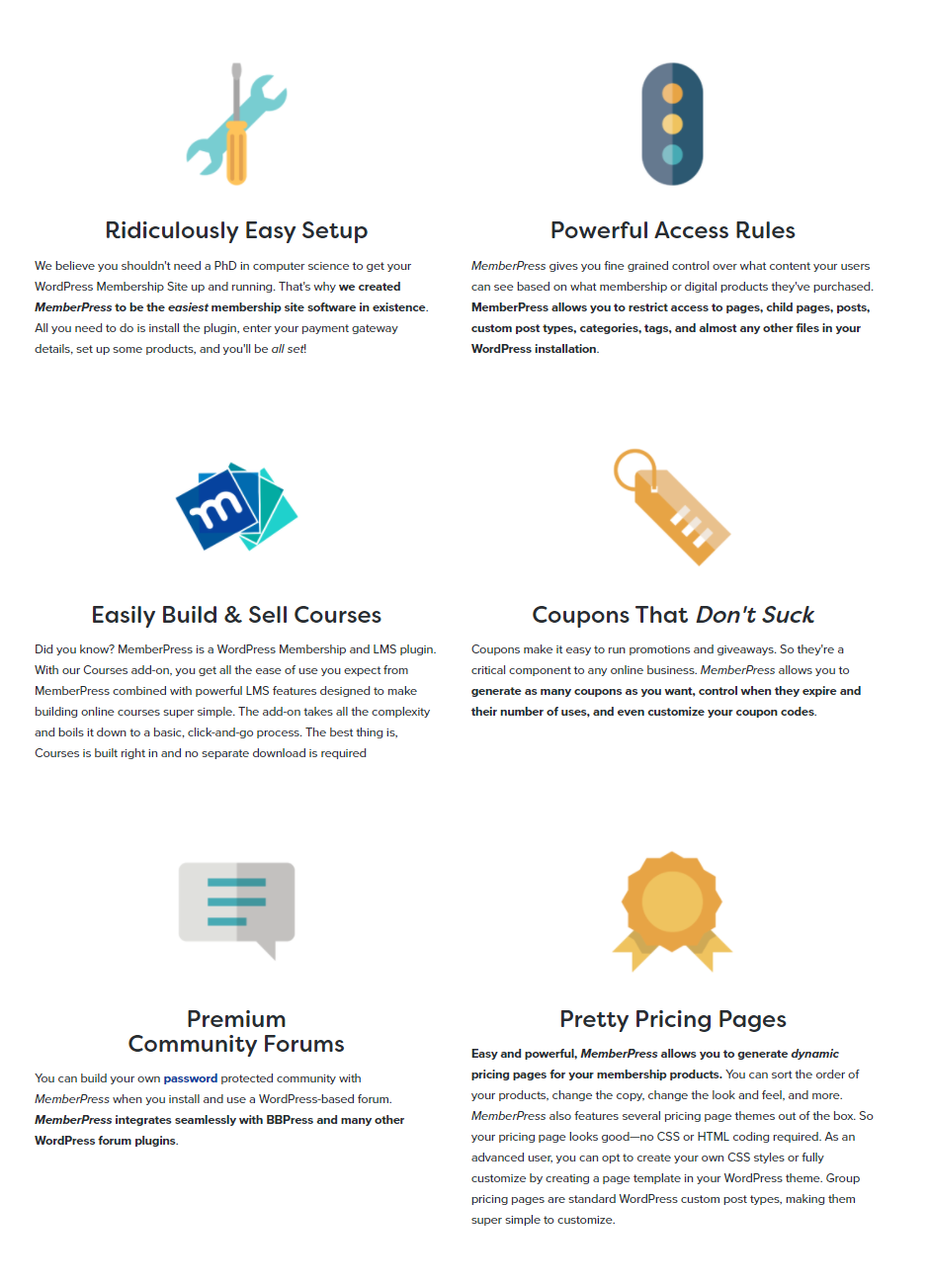 -MemberPress- Features