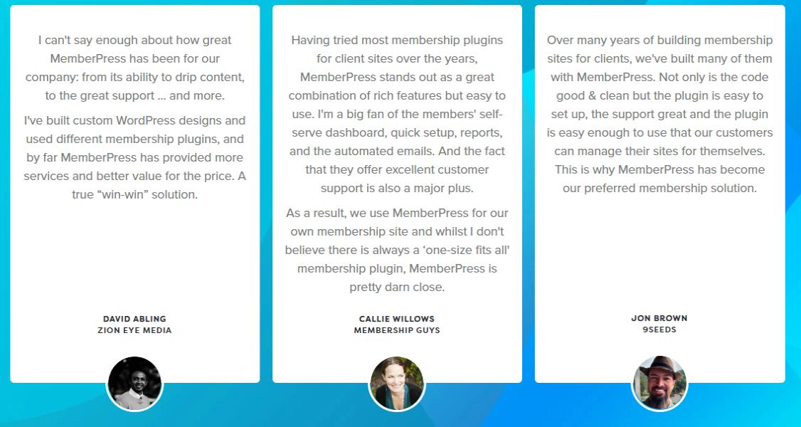 -MemberPress- Testimonials