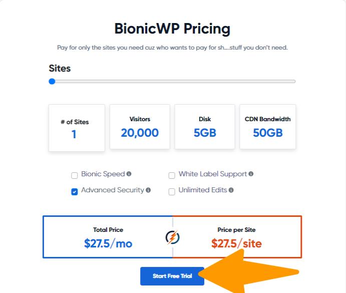 WP-BIONICWP - Pricing