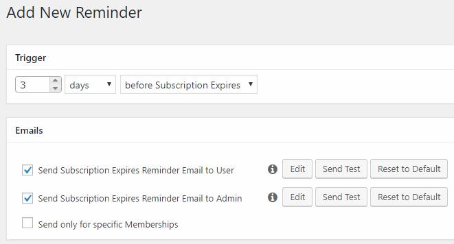 memberpress- setting up reminder