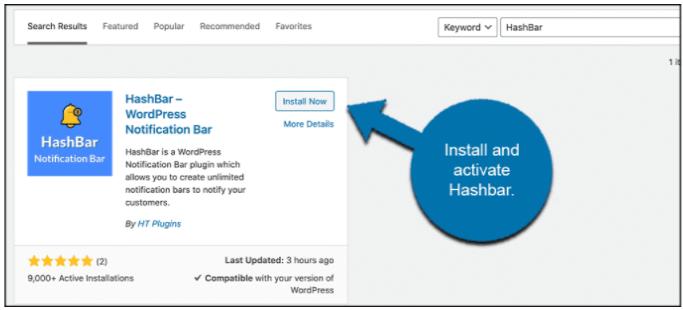 HashBar - Installtion