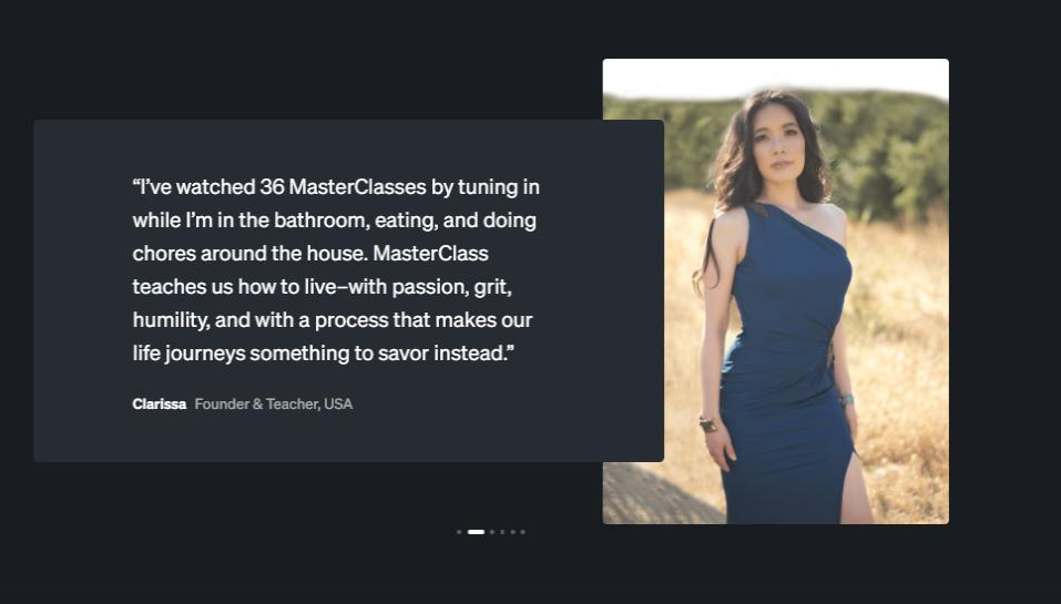 MasterClass - Testimonials