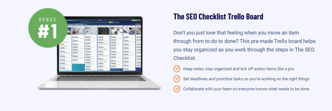 SEO-Checklist Trello Board