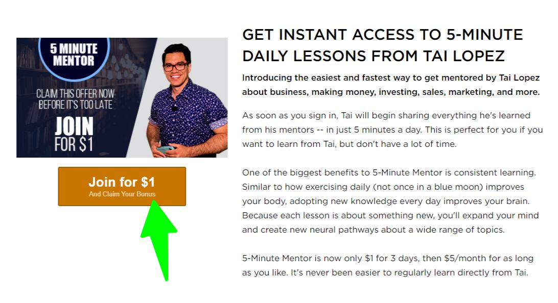 Tai-Lopez - 5 Minute Daily Lesson