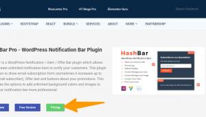 WordPress-Notification-Bar-Plugin Hashbar