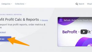 BeProfit - Overview