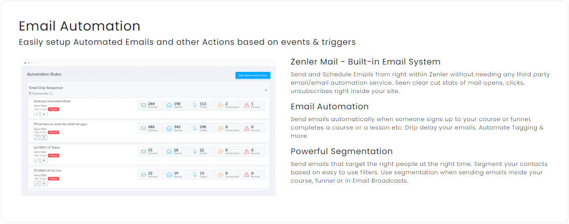 New Zenler - email Automation