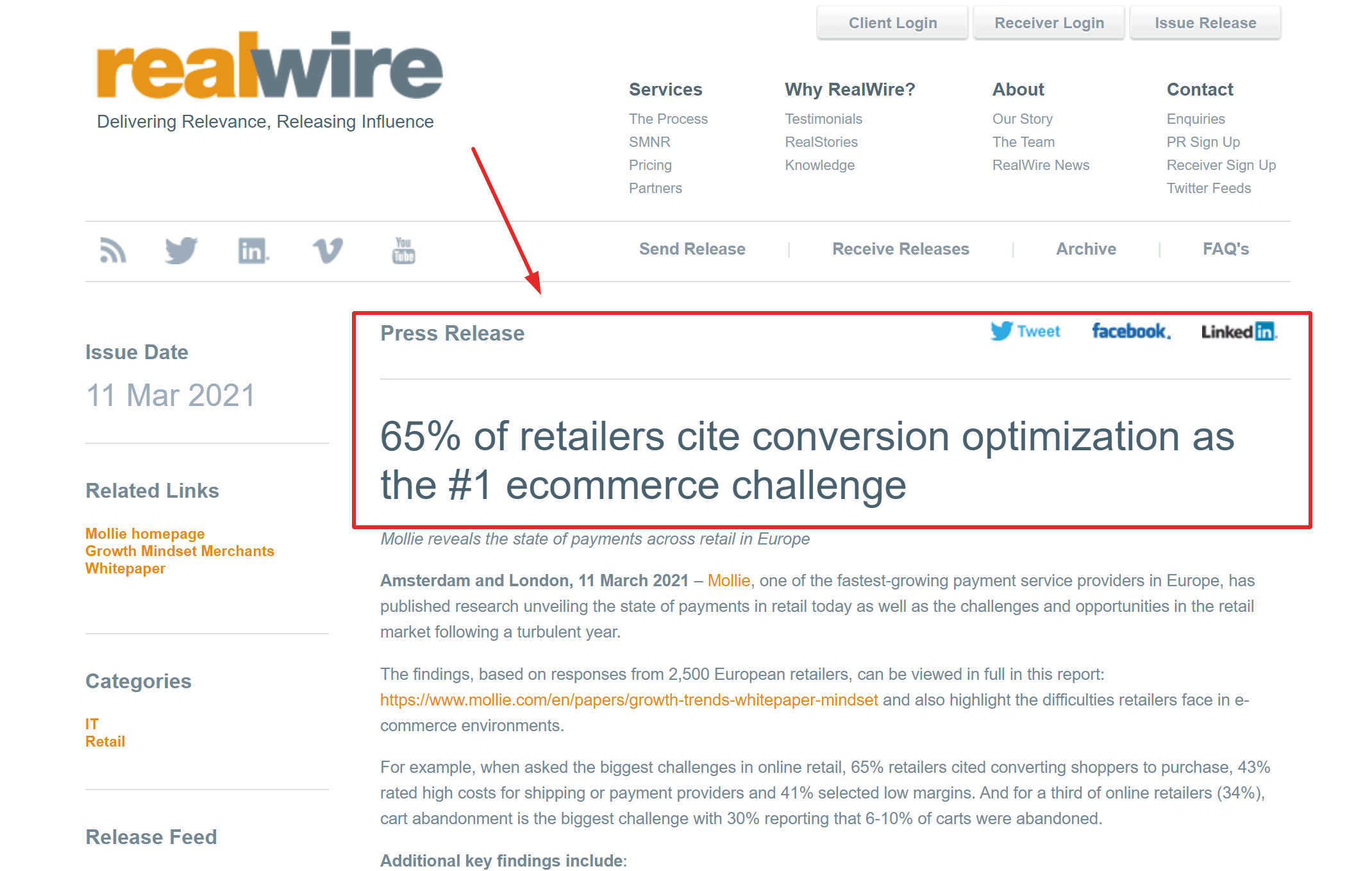 Realwire news CXL reviews