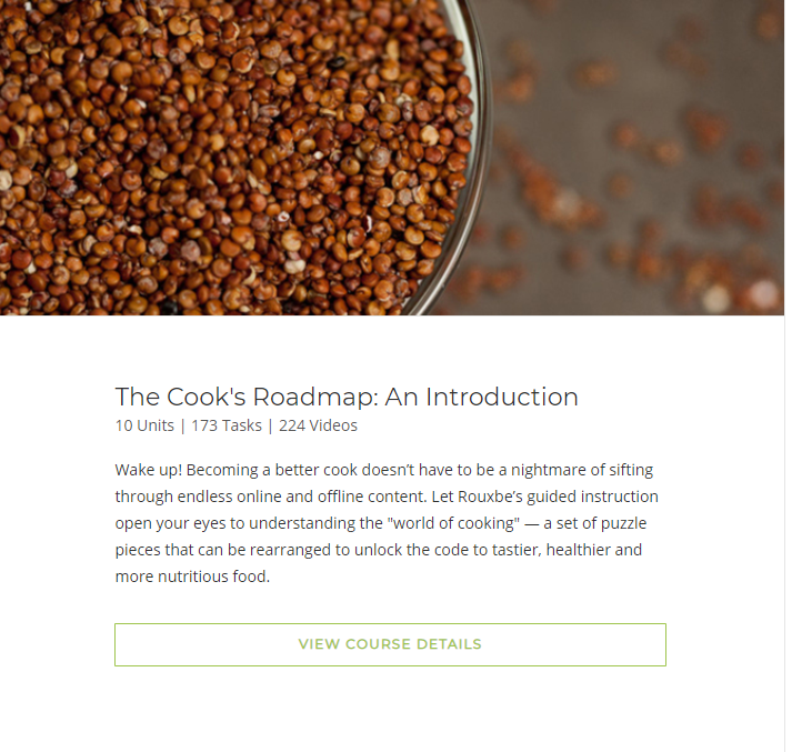 Rouxbe- Cooking Roadmap