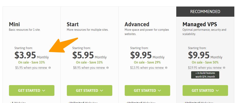 Scala-Hosting - Pricing