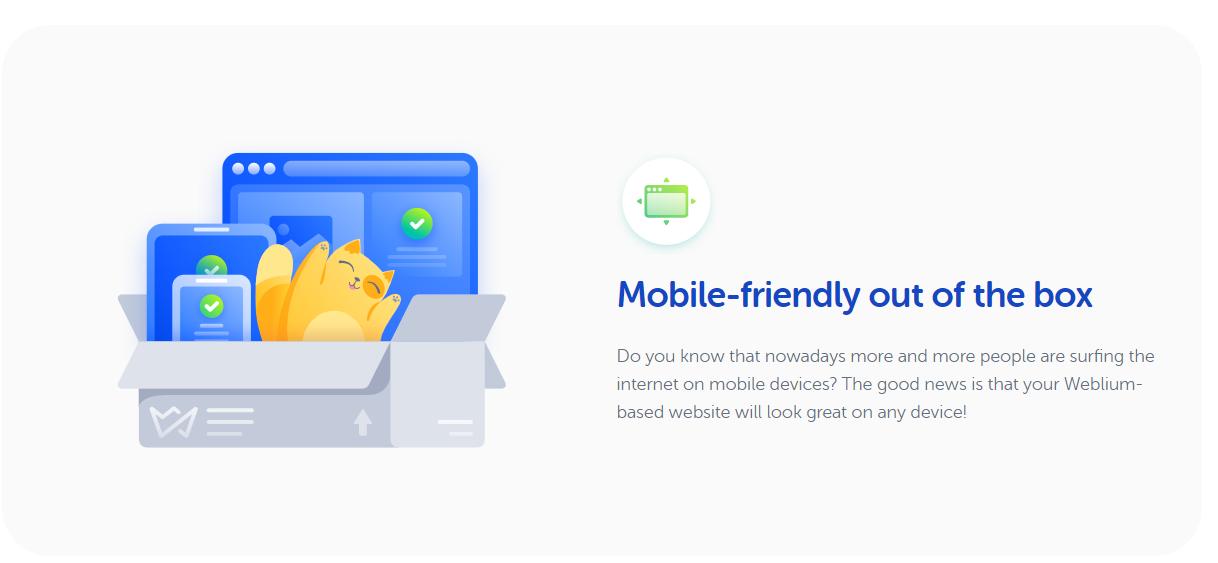 Weblium - Mobile Friendly