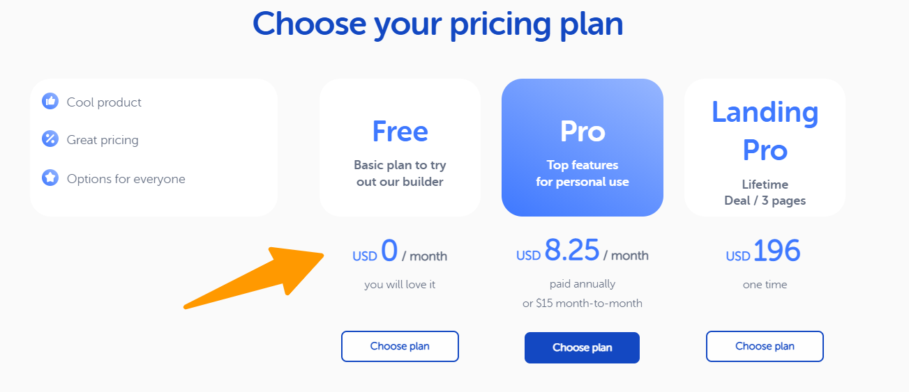 Weblium - Pricing