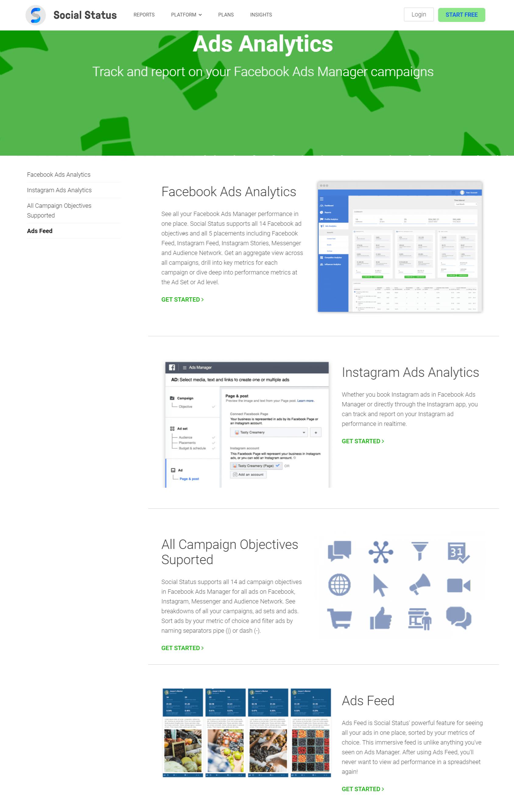 Ads Analytics - Social status