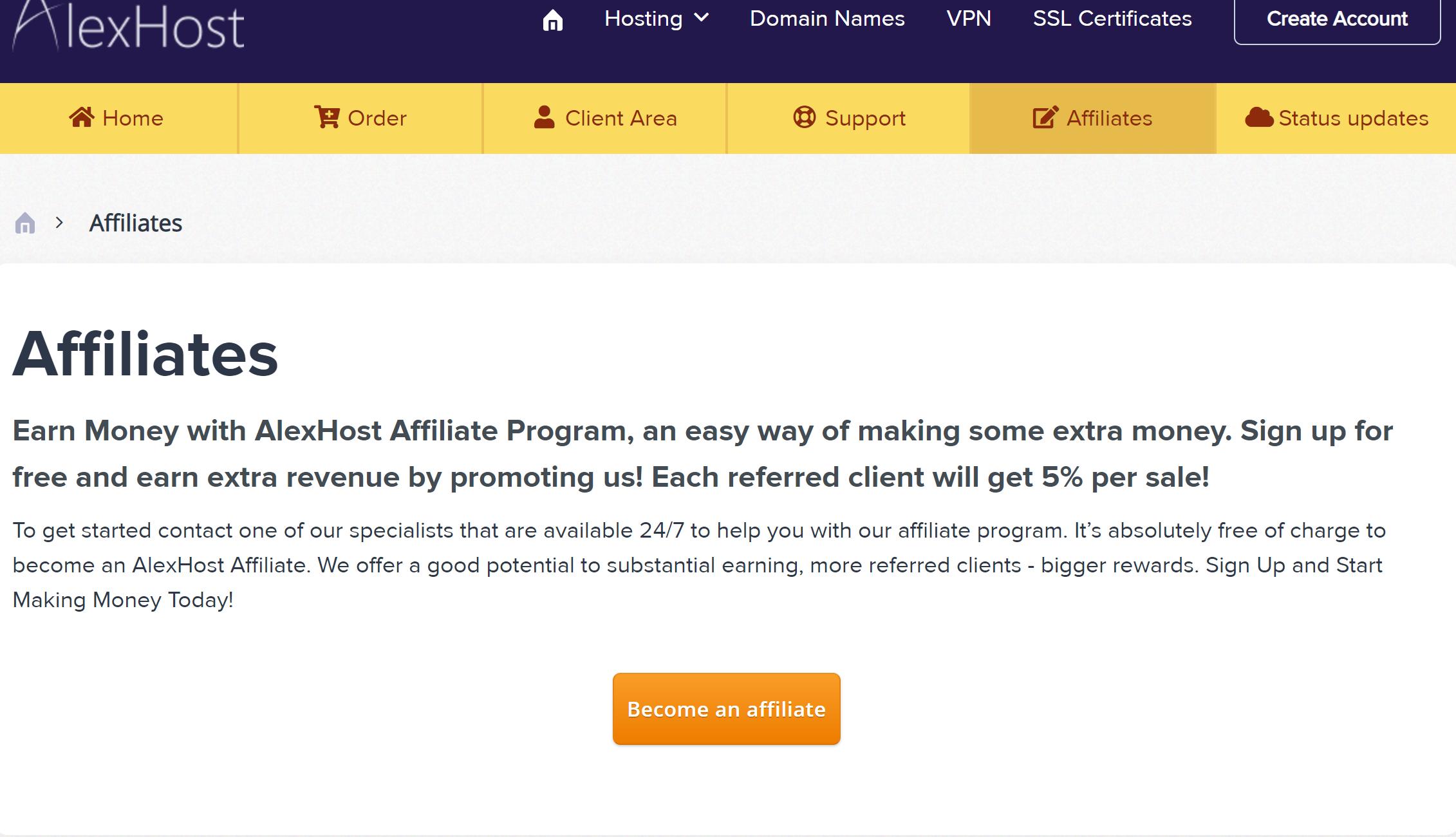 Alexhost affiliate program