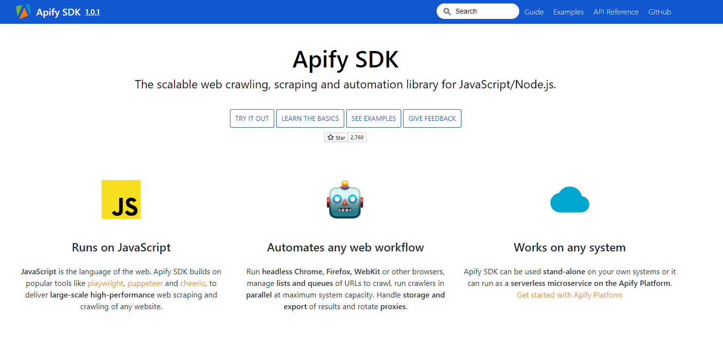 Apify SDK - Overview